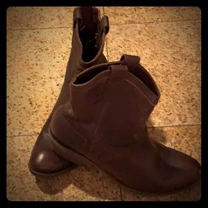 FRYE Deep Brown Leather Boots